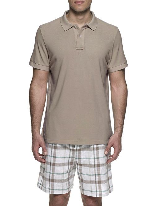 Chakra Scott Erkek Polo Yaka Tshirt Bej